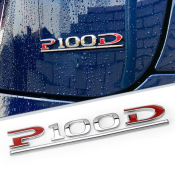 New High quality ABS P100D letters Emblem Badge Car sticker Auto Rear Trunk Accessories displacement stickers For Tesla model 3