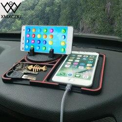 XMXCZKJ telefon komórkowy uchwyt samochodowy numer rejestracyjny przyklejanie Anti-slipmata poduszka wspierająca do tymczasowego rozstania Smartphone GPS Stand
