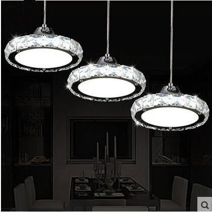 Jczled 3 Ring 31w 40w K9 Crystal Pendant Lights Used For Bar Restaurant Dining Room