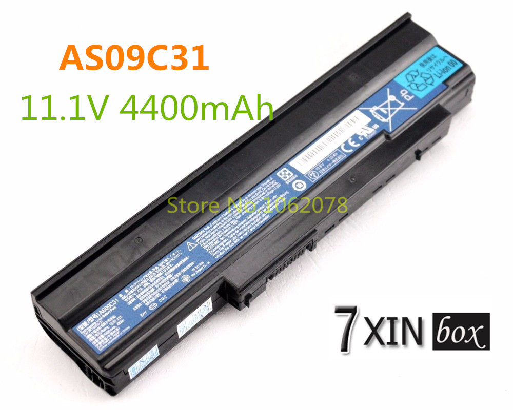 11.1V 4400mAh AS09C31 laptop battery for Gateway AS09C70 AS09C71 AS09C75 LC.BTP0.066 ZR6 ZRG ZRGA NV40 14 inch series genuine battery for gateway li4405a