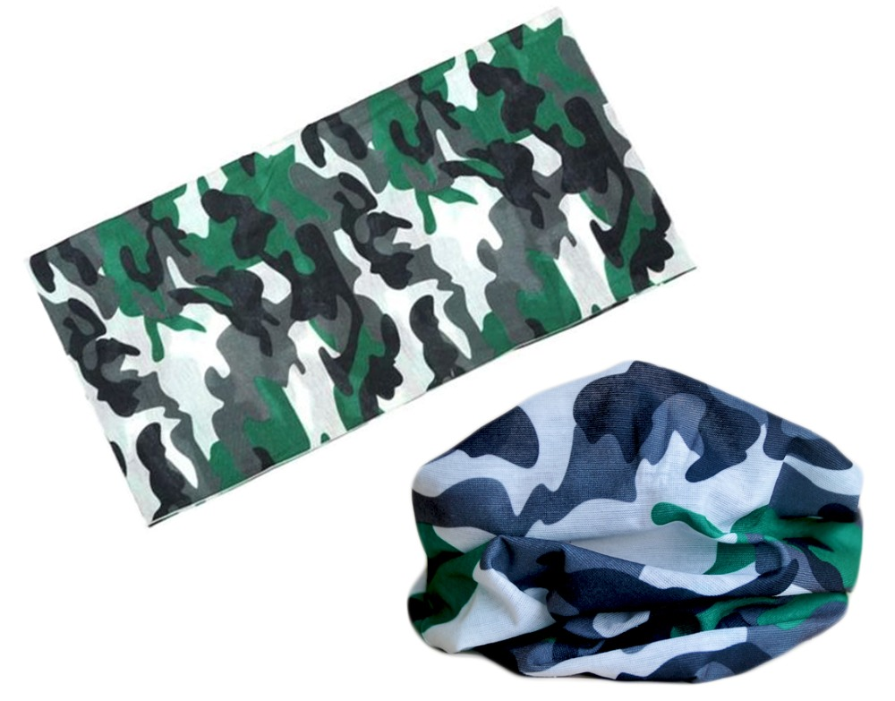 VLEAD Camouflage Polyester Scarves Face Dust Mask Outdoor Sports Bandanas Camping Headwear Hiking Washouts Hunting Magic Scarves