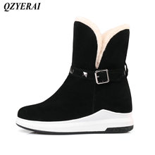 QZYERAI Winter new arrival flat bottom plush warm snow boots fashion womens shoes women boots leisure
