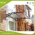 YP100120 100x120 cm 39x47in pré-fabricada casas roof top tenda galpão de plástico da folha do policarbonato overehead doorawning para porta da frente
