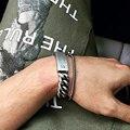 Retro pulsera de acero titanium blindreason abierta, enlaces y cadenas de Plata Retro Brazalete de Acero Inoxidable Brazalete de la Pulsera de Cadena