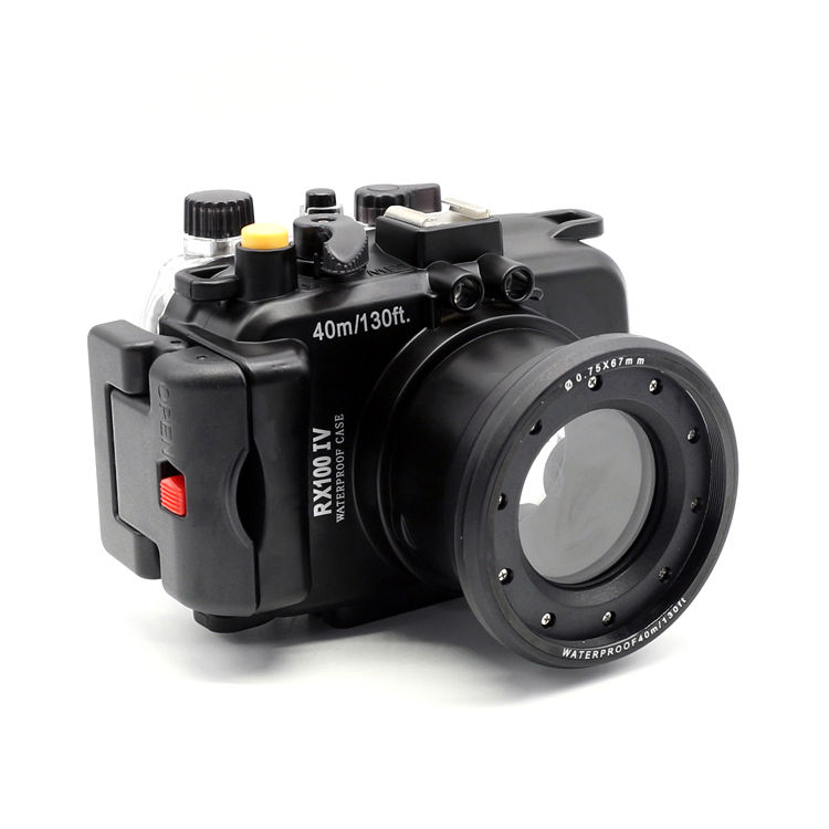 40m /130 feet Meikon waterproof camera housing case for Sony RX100 IV / RX100 M4