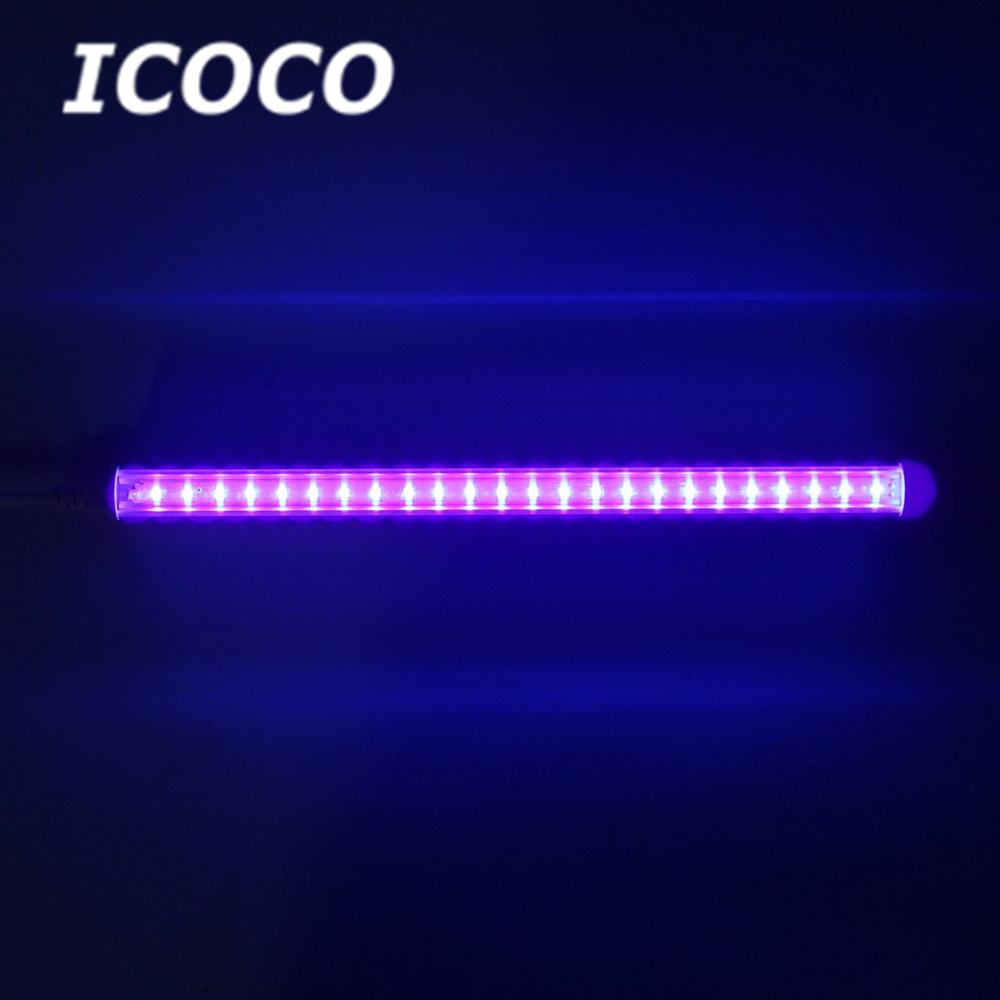 ICOCO 30cm Back Light Bar UV Super Bright LED 395nm Backlight 110-220V No Flickering Decor Light For Party Club Party Decor Sale