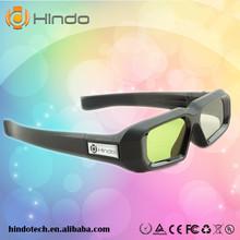 Lithium Battery Powered DLP Link Shutter 3D Glasses for DLP-link 3D Projector cheap Immersive Dual NX30II HINDOTECH HD Active Shutter DLP LINK 3D Ready Projectors 96-144HZ