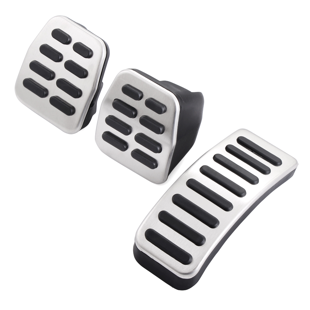 Image 2 - Stainless Steel Car Gas Brake Pedals For Audi TT Pedale VW SEAT Golf 3 4 Polo 9N3 For SKODA Octavia Ibiza Fabia A1 A2 A3 GTI-in Car Stickers from Automobiles & Motorcycles