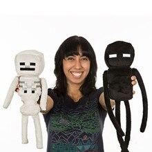 24cm Minecraft Skeleton Stuffed Toys High Quality Minecraft Enderman Plush Doll Kids Toys Brinquedo Gifts