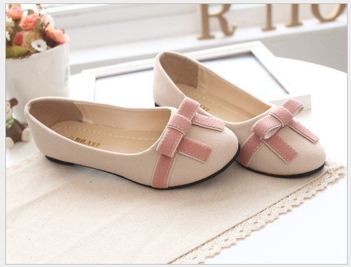 ! women single shoes round toe bow women's comfortable flat heel