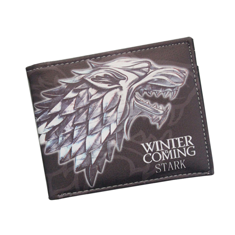 Ancient Costume Movies GAME OF THRONES Wallets Animated Wolf  Wallets For Boys Girls Money Bag Cartoon Animal Purse Card Holders my treasury of stories for boys