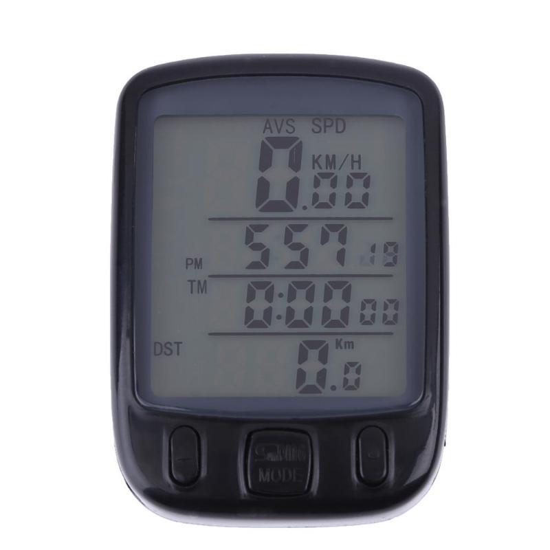 Bicycle Digital LCD Waterproof Odometer Speedometer Stopwatch w/ Backlight Wireless Speedometer Bicycle Digital Stopwatch