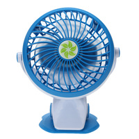 Portable Mini USB Rechargeable Clip Fan Silent Desk Cooling Fan Powerbank Computer Charging USB Fan Blue