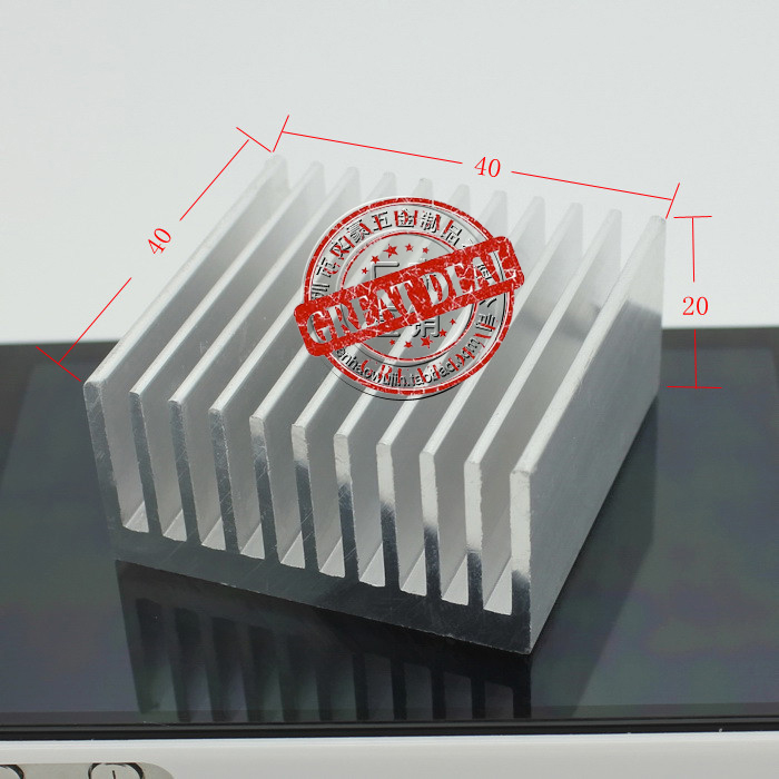 Free Ship DHL 100PCS Custom High Quality Aluminum Heatsink 40*40*20MM Amplifier Heatsink Silver Heat Sink