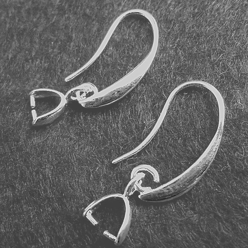 10PCS NEW DIY Fashion Silver Jewelry Finding Hook Earring Pinch Bail Ear Wire