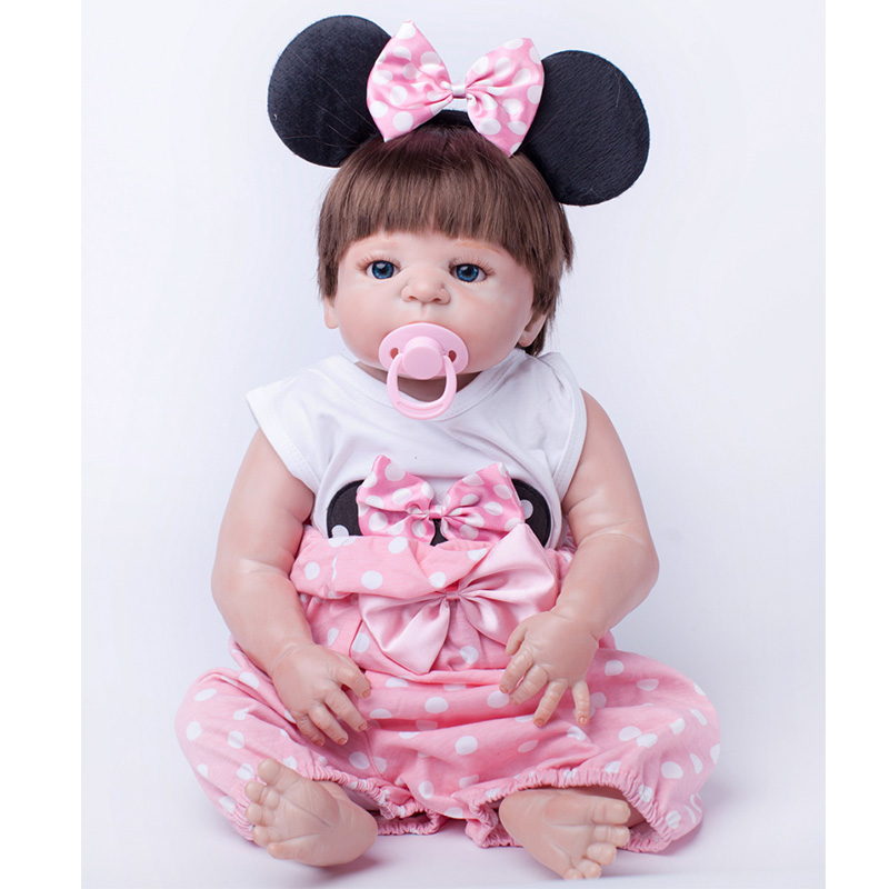 Baby Alive Silicone Reborn Dolls Cute Girls Gift Toys Brinquedos Babies Reborn Realistic Dolls Children Early Education Present hot sale toys 45cm pelucia hello kitty dolls toys for children girl gift baby toys plush classic toys brinquedos valentine gifts