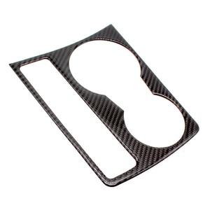 Image 2 - Audi için A4 B8 A5 2009 2010 2011 2012 2013 2014 2015 2016 karbon Fiber su kupası tutucu paneli krom çerçeve sticker Trim