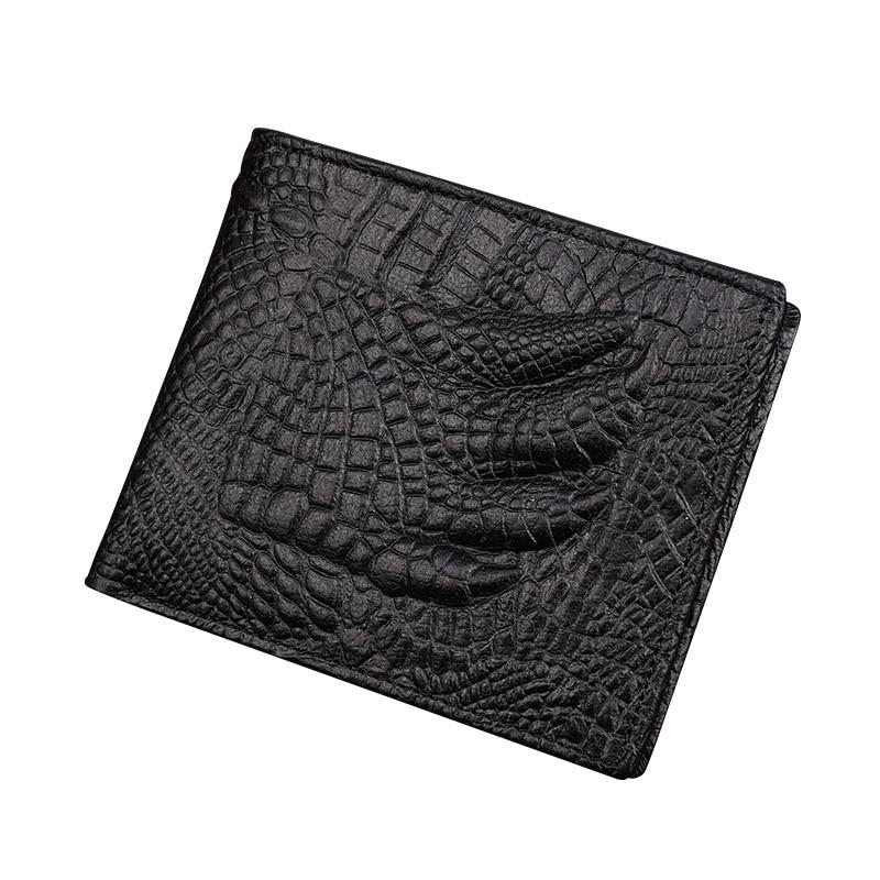 Skin Wallet Short Crocodile Alligator Purse Credit-Card-Holders Coin-Pocket Small Men