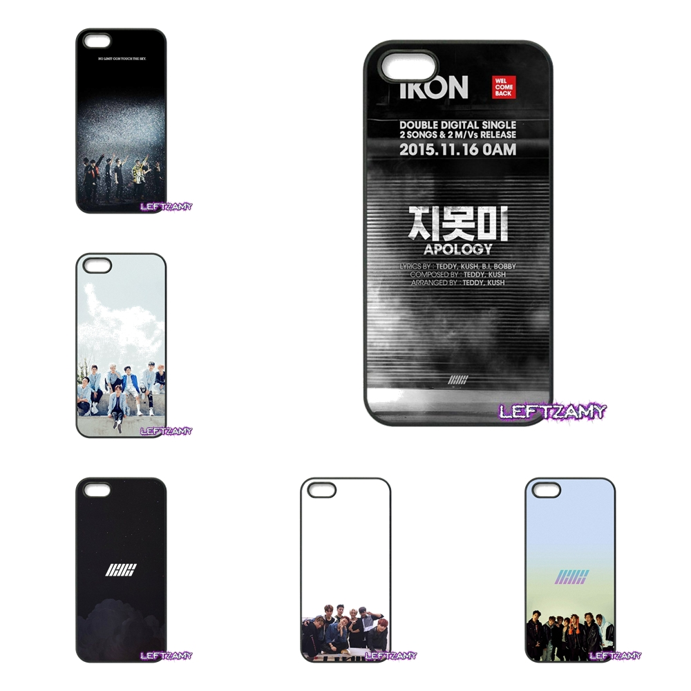 Ikon Kpop Team Pattern Hard Phone Case Cover For iPhone 4 4S 5 5C SE 6 6S 7 8 Plus X 4.7 5.5 iPod Touch 4 5 6