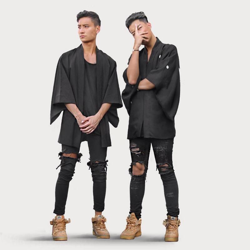 Fashion autumn stretch ripped designer brand jeans hip hop slim ...