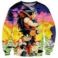 Arte Estilo Dragon Ball Z Vegeta y Goku 3D Sudadera Mujeres de Los Hombres de Manga Larga de Cuello Redondo Suéteres Inconformista Prendas de Vestir Exteriores Sudaderas 3d