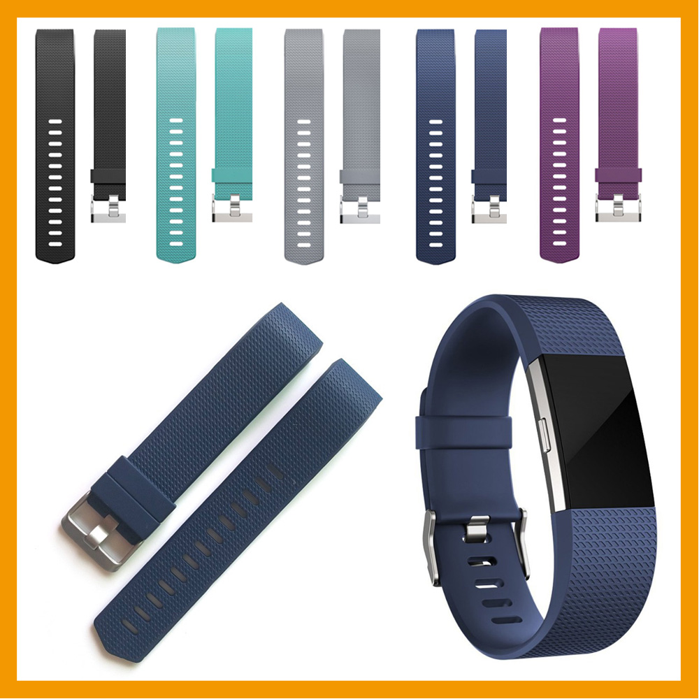 Fashion sport soft silicone strap band for fitbit charge 2 bracelet watchband for fitbit chargr 2 bands jansin 22mm watchband for garmin fenix 5 easy fit silicone replacement band sports silicone wristband for forerunner 935 gps