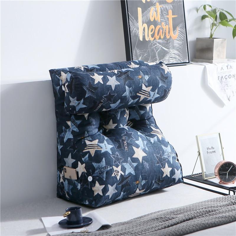 Coussin de lit triangulaire canapé taille dos coussin Tatami lit doux grand dos bureau cou oreiller Cojines Decorativos Para canapé 6kd126