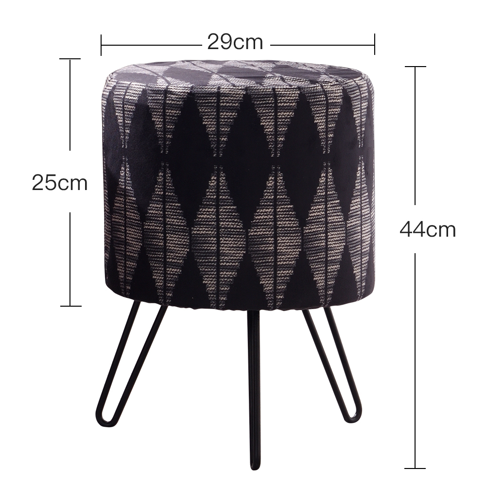 Solid Wood Stool Fashion Sofa Chair Creative Dressing Modern Small Round Home Makeup Stool Wooden Dotomy