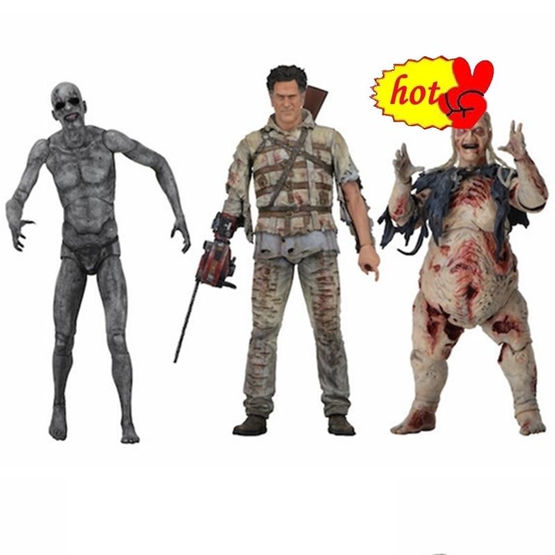 18 cm NECA The Evil Dead Ash Vs Evil Dead Ash Williams Eligos PVC Action Figure Da Collezione Model Toy Brinquedos regalo