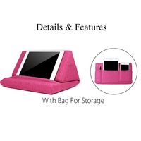 Multifunction Laptop Tablet Pillow PC Tablet Stand Holding Holder Stylish Cooling Pad Foam Pillow Lap Rest
