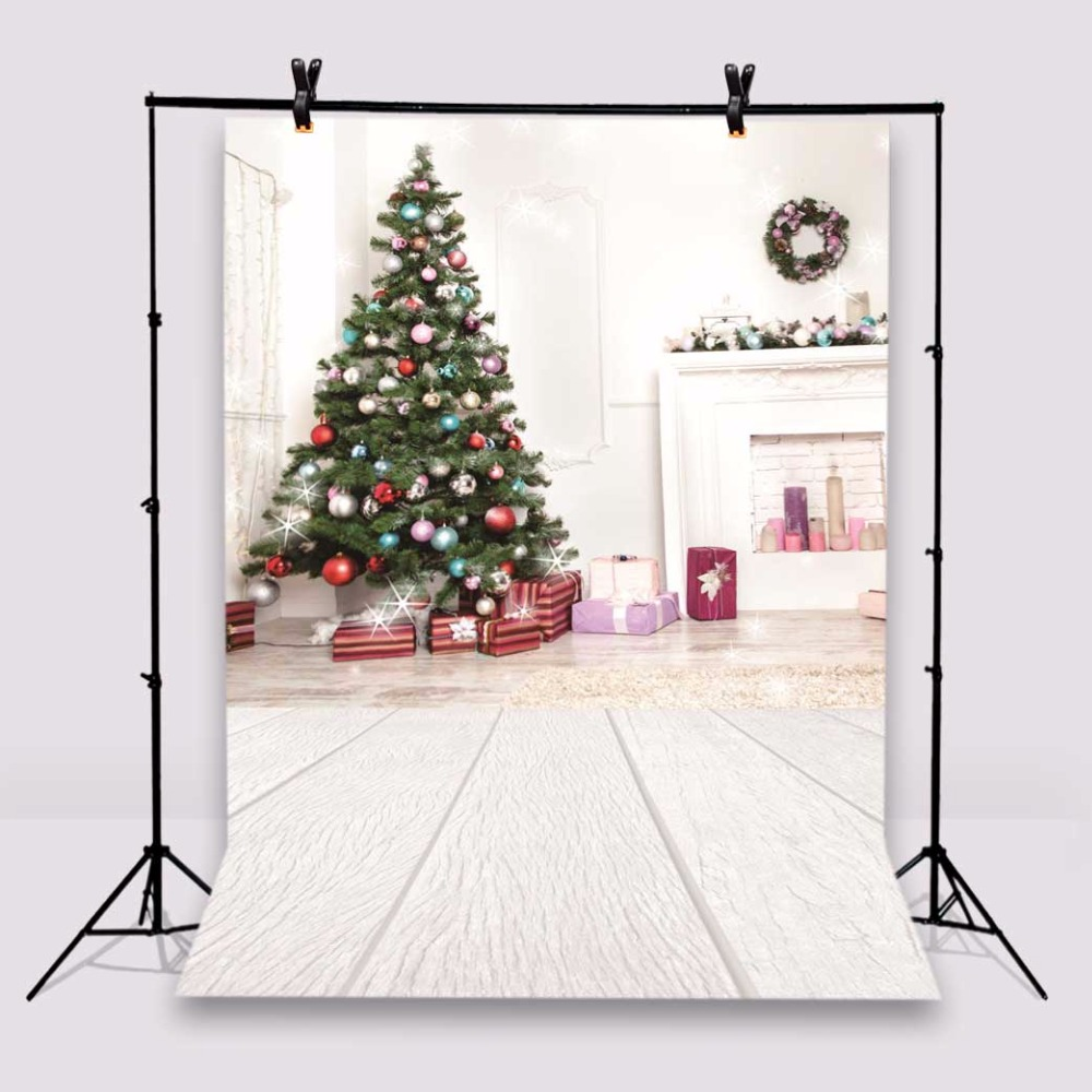 Christmas Photography Backdrops Wooden Floor Photo Studio Props Baby Background Vinyl 5x7ft or 3x5ft Jiesdx036 camp bambino