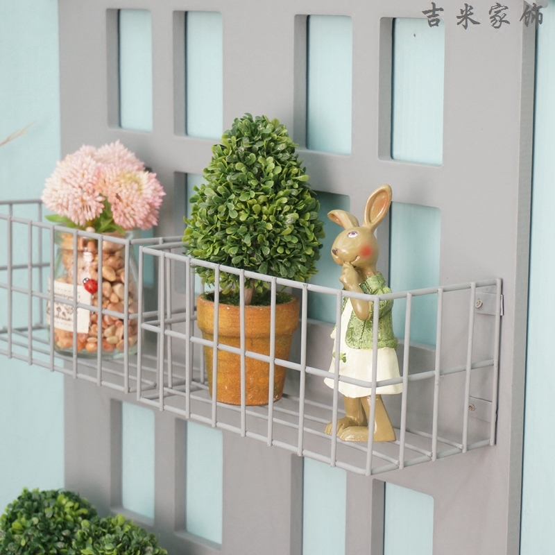 American country to do the old bar-cafe grocery store simple iron wall rack storage rack / shelving