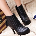 women ankle boots winter warm women lady half fashion sexy short boot winter shoes AA250 size 33-40