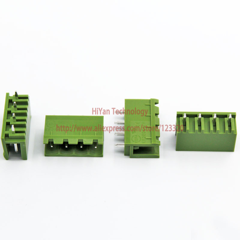 (20sets/lot) PCB Screw Terminal Block Connector KF2EDGK 4P and 180 Degree Pin Header pitch:5.08MM/0.2inch Green 10A 300V 4Pins