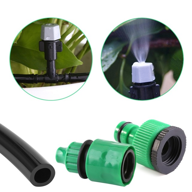 Sprinkler Heads Water Misting Cooling System Hose Nozzle Garden Patio Micro Irrigation Set Dripper Plant Drip