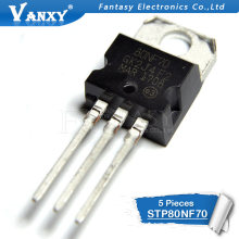 5 uds STP80NF70 TO220 P80NF70-220 80NF70 nuevo y original IC(China)