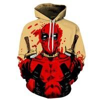 New Joker Sweatshirts Men Brand Hoodies Men Joker Suicide Squad Deadshot 3D Printing Hoodie Male Casual Tracksuits Tops