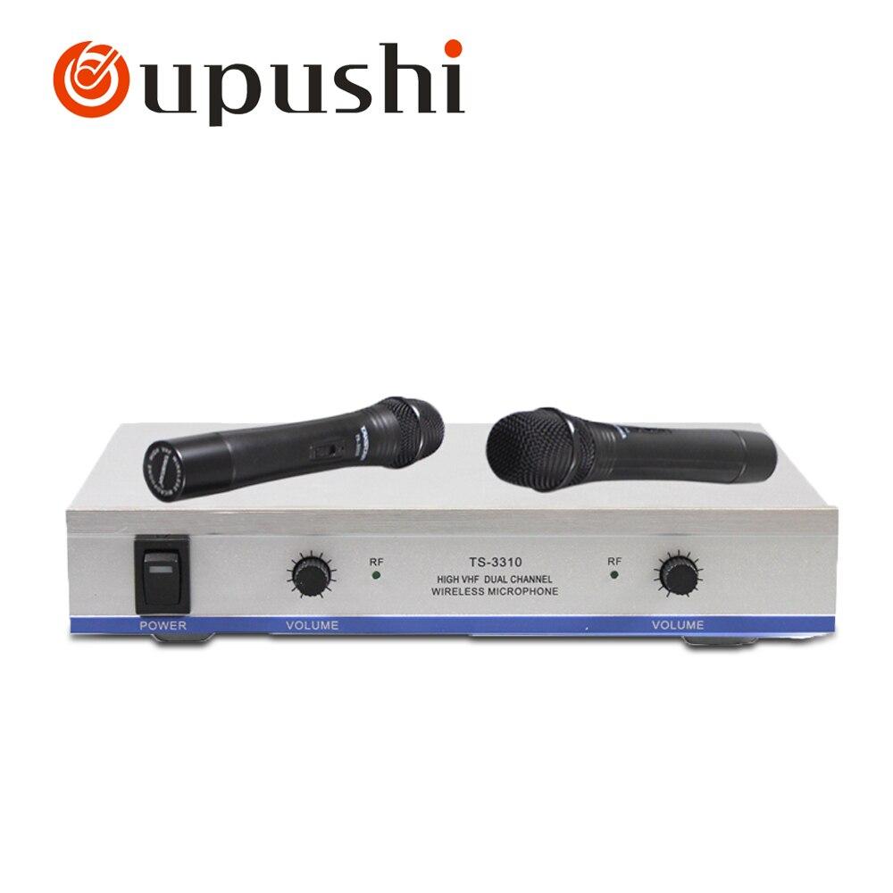 Cheapest VHF Handheld Mic Karaoke Microphone Wireless With Amplifier professional handheld dynamic karaoke mic vhf wireless microphone system with receiver for ktv fio microfone mikrofon microfono