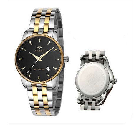 Brand AILANG British Men Elegant Business Statement Watches Quartz Calendar Dress Wristwatch Full Steel Analog Relojes 3ATM W014 кондиционер gree ks 0505d wg