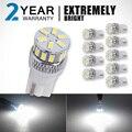 OGA 10 PCS Big Promoção cor Branca Super Brilhante T10 194 W5W SMD LED High Power Car Auto Wedge Luzes de Estacionamento Bulb Lamp DC12V