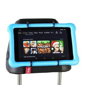 Image 1 - Tylne siedzenie samochodu tabletka zamontować uchwyt na zagłówek dla amazon kindle Fire 7, ogień HD 8, ogień HD 10 dzieci edycja z/bez obudowy
