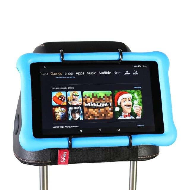 Tylne siedzenie samochodu tabletka zamontować uchwyt na zagłówek dla amazon kindle Fire 7, ogień HD 8, ogień HD 10 dzieci edycja z/bez obudowy