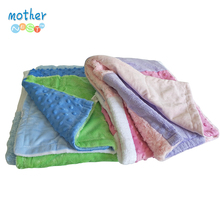 Multi-Fabric 12-Panel Blanket Textured Dot Blanket Baby 30x4