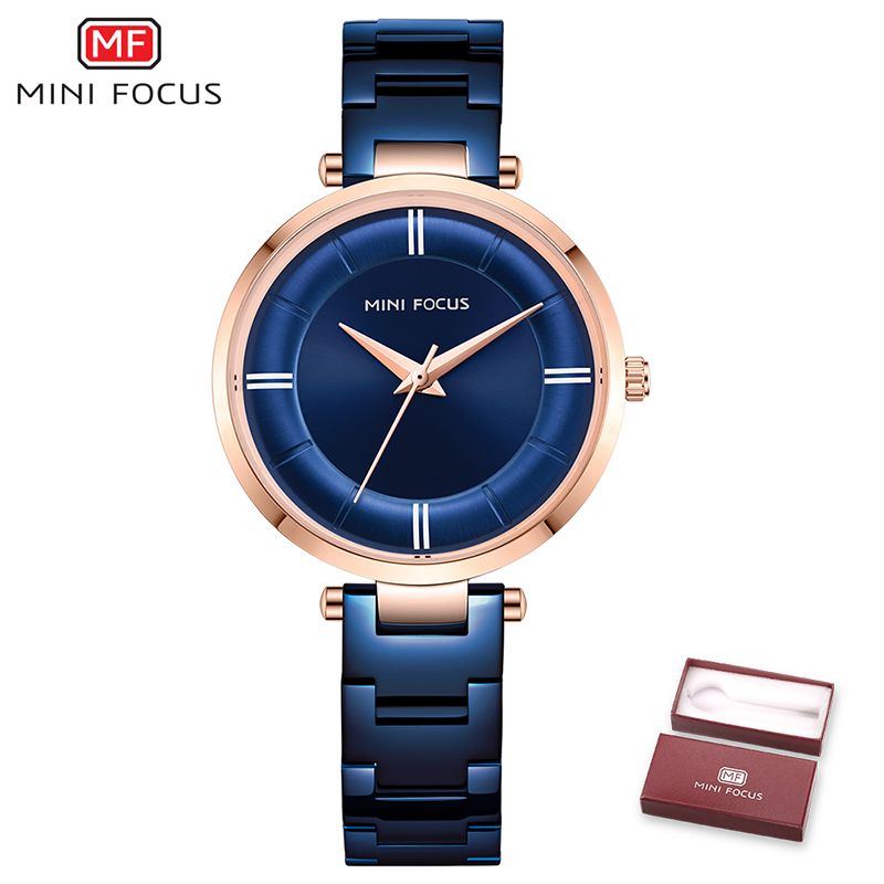MINIFOCUS Fashion Diamond Female Quartz Wristwatches 2019 New Luxury Women Watches Ladies Clock relogio feminino zegarek damski in Women 39 s Watches from Watches