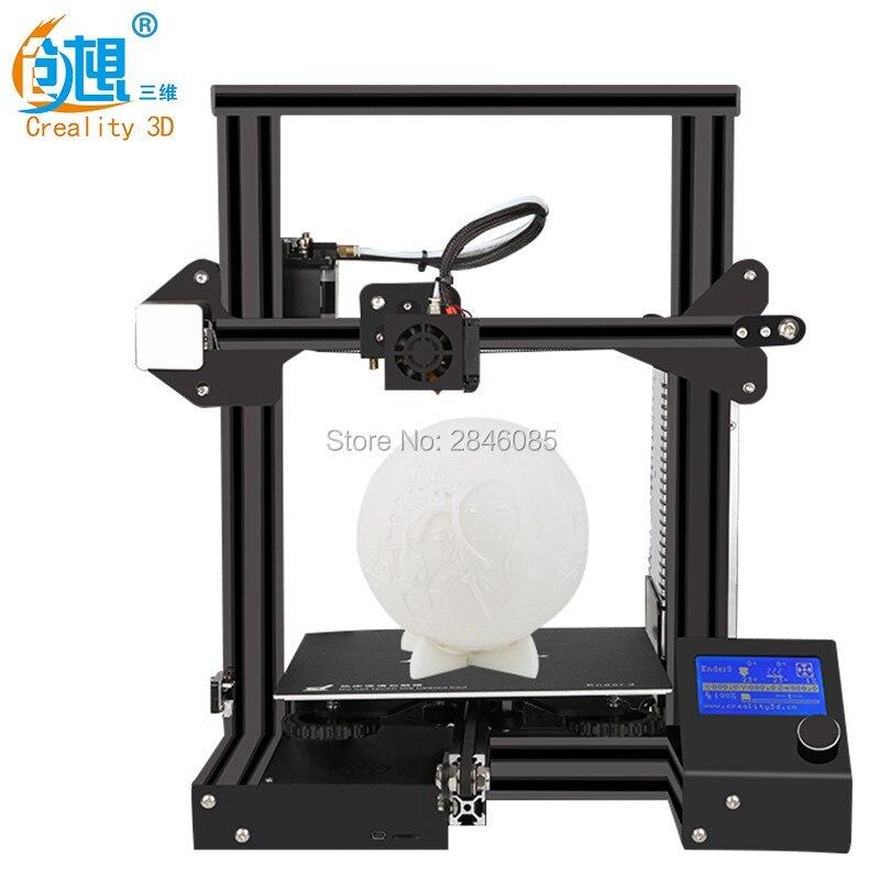 Ender-3 Creality 3D impresora v-ranura prusa I3 Kit reanudar apagón impresora 3D KIT DIY 110C para Hotbed