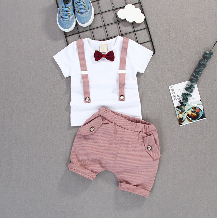 Summer Baby Toddler Boys Clothing Set Suit Shorts Shirt Formal Party Wedding
