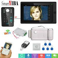 SmartYIBA Wired Wireless Wifi Video Door Phone Doorbell Kit Video Intercom System HD 720P Camera 7