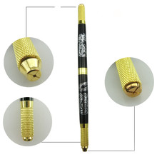 Aluminum Professional Manual Permanent Makeup Tattoo Eyebrow Lip Pen 3D Eyebrow Embroidery MicroBlading Pen