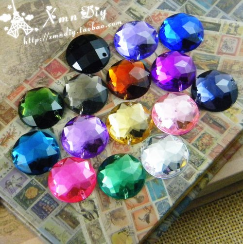 200pcs/bag 16colors 18mm Round DIY Acrylic sew on rhinestones flat back,Handmade garment Jewelry accessories crooked kingdom