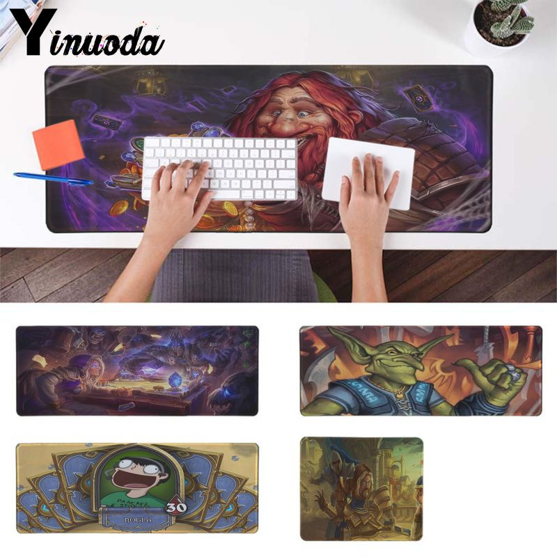 Yinuoda Your Own Mats Funny Hearthstone Game Locking Edge Mouse Pad Game Free Shipping Large Mouse Pad Keyboards Mat
